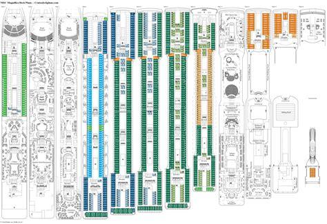 deck plans com msc magnifica deck plans diagrams pictures
