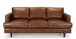 irvine 3 seater sofa in pecan brown premium leather madecom With brown leather sofa