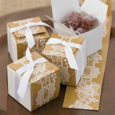 hortense rustic lace themed reversible wrap wedding favor