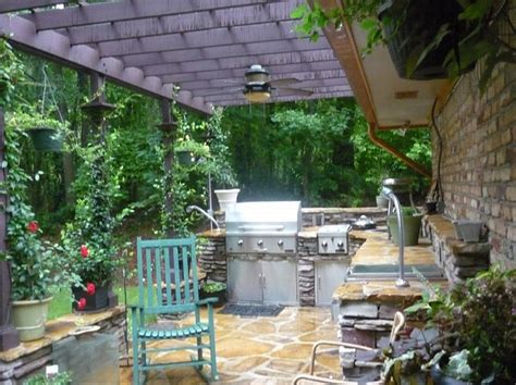 outdoor kitchen deck herb garden after lying in the
