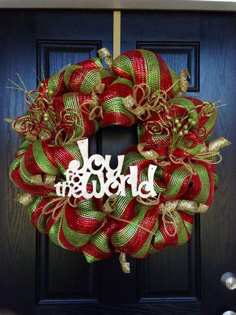 creative red green gold ribbon joy   world