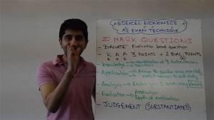 Edexcel As Economics - 20 Marker Exam Technique