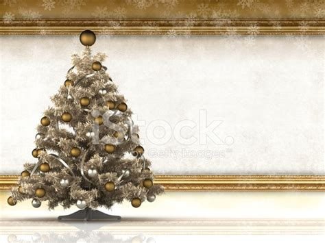 Christmas Background Xmas Tree And Blank Paper Sheet Stock