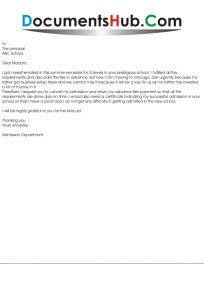application  admission cancellation  school