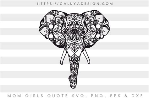 If you like this free svg, please share it on pinterest! Free Elephant Mandala SVG, PNG, EPS & DXF by Caluya Design