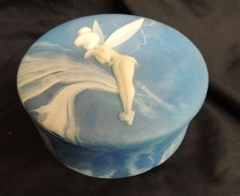 VTG Incolay Trinket Jewelry Box Disney Tinkerbell Peter