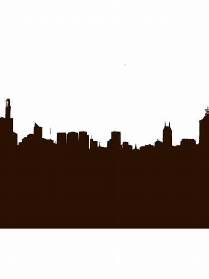 Silhouette Skyline Clip Clipart Outline York Vector
