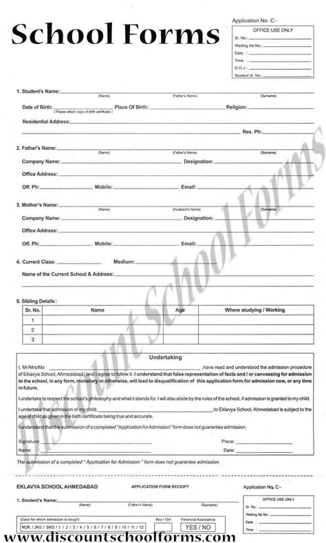 Sle Applications For High School Students by Get Your Free School Admission Form Modify This School