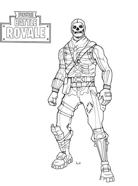 kids  funcom coloring page fortnite skull trooper