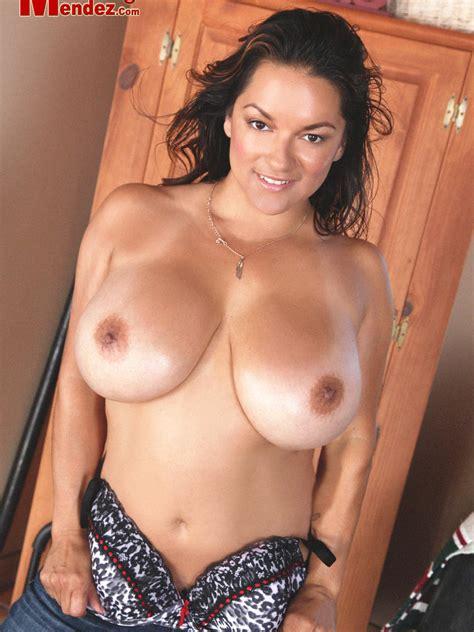 Monica Mendez Wearing Jeans Stripping Her Bra