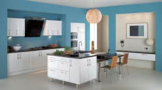 modern kitchen interior design kitchen interior modern sky blue colour design decobizz