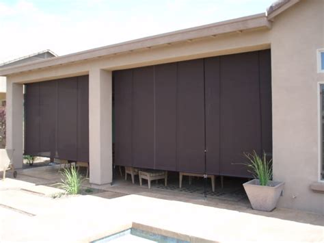 roll up patio sun screens patio roll up shades with 90 brown textilene yelp