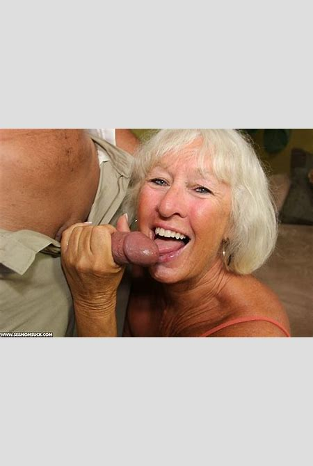 Swarthy old granny in an orange top sucking - XXX Dessert - Picture 12