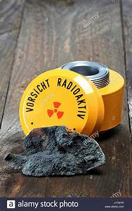uraninite with storage container for radioactive materials ...