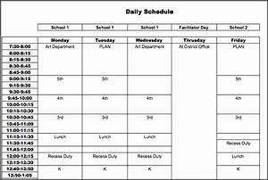 4+ Daily Schedule Template for Students - SampleTemplatess ...