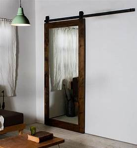 how to build and decorate with rustic mirror frames With barn door with mirror on one side