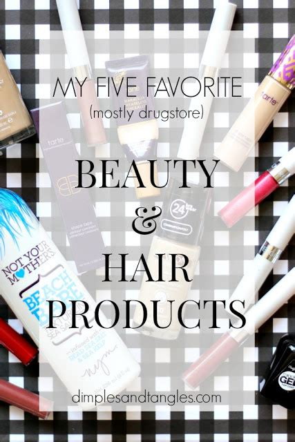 My Five Favorite Beauty And Hair Products  Dimples And