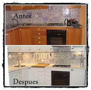 Antes y despues de pintar los muebles de cocina Cocinas reales Pinterest