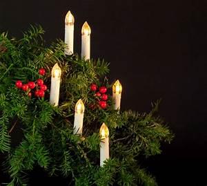 Weihnachtsbaumbeleuchtung Mit Kabel : fhs led kerzenlichterkette 30er 10m warmweiss ip44 real ~ Watch28wear.com Haus und Dekorationen