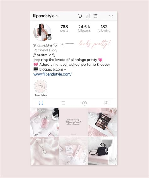 change  font   instagram bio blog pixie