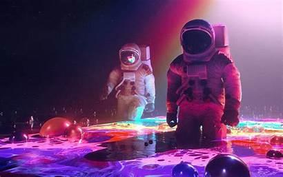 Neon Astronauts Wallpapers