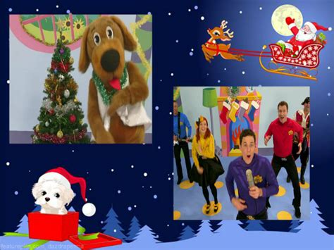 wags is bouncing around the christmas tree the wiggles christmas fan art 36081811 fanpop
