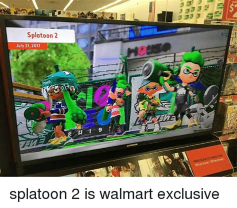 Splatoon 2 Memes - s splatoon 2 july 21 2017 whenever splatoon 2 is walmart exclusive meme on sizzle