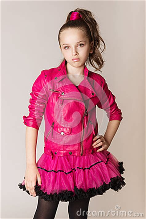 fashion  girl  glam rock style stock photo image