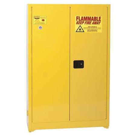Flammable Safety Cabinet 45 Gal Yellow by Eagle Flammable Safety Cabinet 45 Gal Yellow 4510