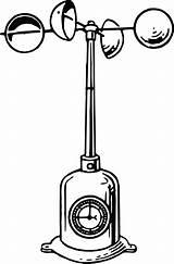 Anemometer Clipart Wind Drawing Cup Speed Instrument Measure Weather Meteorology Measuring Line Hemispherical Instruments Drawings Svg Vector Pixabay Clip Meteorological sketch template