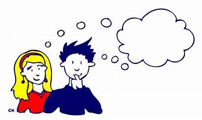 Thinking Clipart Thought Someone Same Couple Clip
