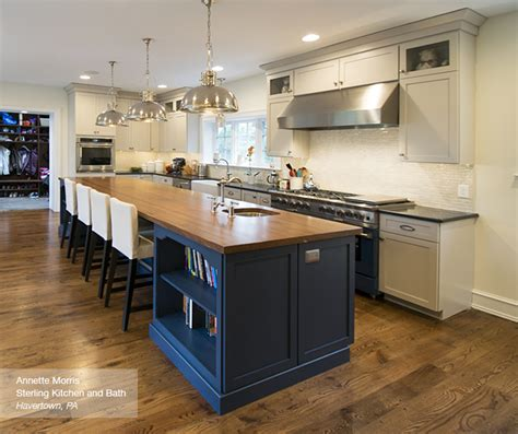 how to install kitchen island white cabinets with a blue kitchen island masterbrand