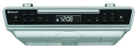 Under Cabinet Radio Clock Cd Bluetooth Remote Music