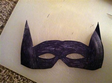 paper plate batman mask snapguide