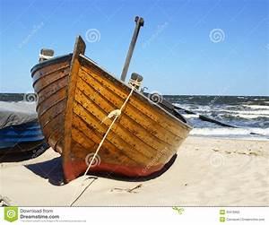 Fishing Boat On Beach Royalty Free Stock Photo - Image
