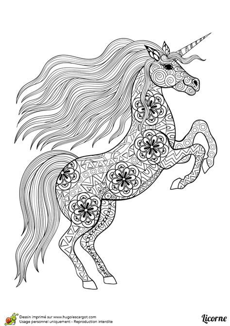 jeu de fille gratuit de cuisine dessin à colorier d un mandala de licorne debout