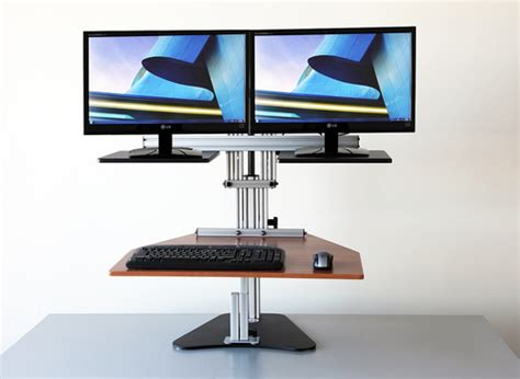 kangaroo pro adjustable height sit stand desk