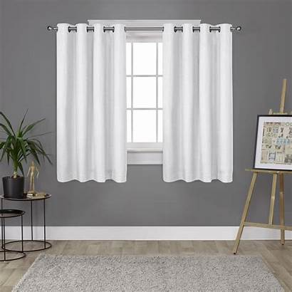 Grommet Curtains Curtain Linen Textured Thermal Window