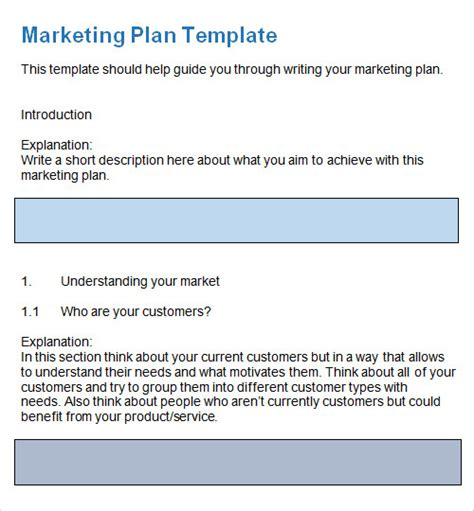 sample plan template    documents