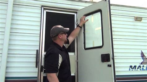 rv door glass installation youtube