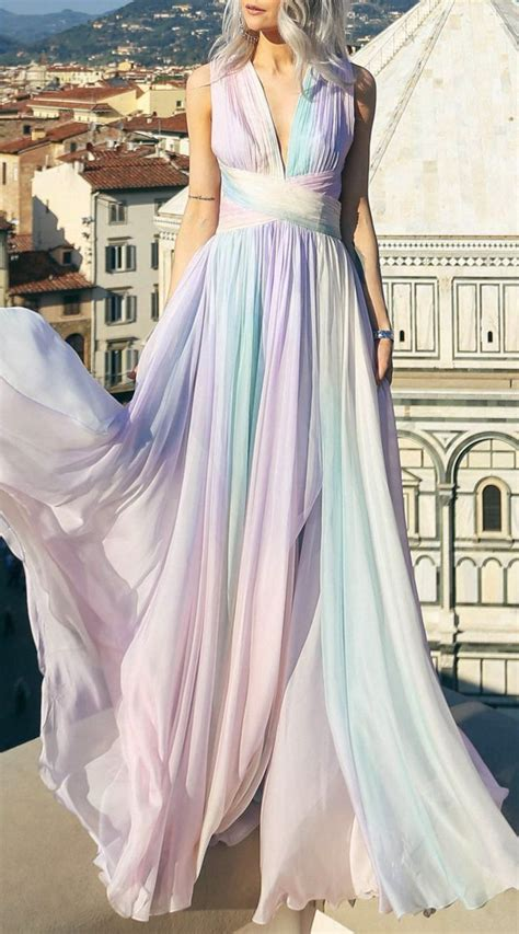 25+ best ideas about Rainbow prom dress on Pinterest | Pretty dresses Colorful prom dresses and ...