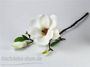 Tischdeko Shop De : magnolie wei 37cm wei flieder mit magnolie tischdeko kommunion konfirmation f r feste ~ Watch28wear.com Haus und Dekorationen