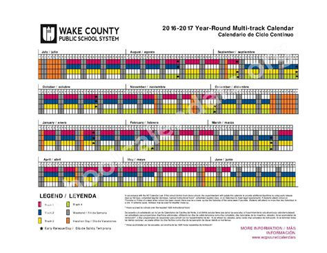 wake county school system calendars printable calendar