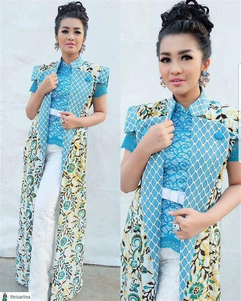 Baju Modifikasi Batik by 17 Model Baju Batik Kombinasi Polos 2018 Desain Modis