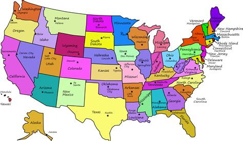 united states map  capitals  state names  jpn
