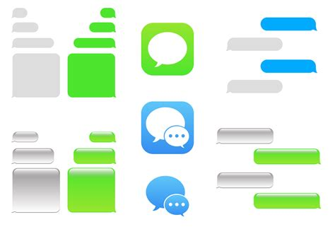 imessage template free imessage vector free vector stock graphics images
