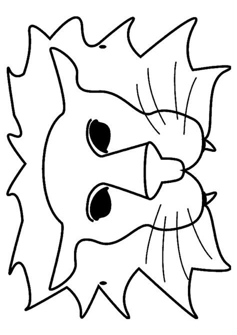 Kleurplaat Carnaval Trol Masker by Kleurplaat Maskers 7278 Kleurplaten