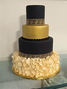 Black And Gold Birthday Cake Designs