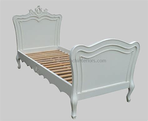 Rochelle French Bed With Rococo Crest In Your Choice Of Colour