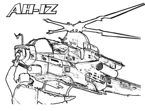 Apache Helicopter Kleurplaat by Ah 1z Apache Helicopter Coloring Pages Best Place To Color